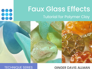 faux glass polymer clay cover image