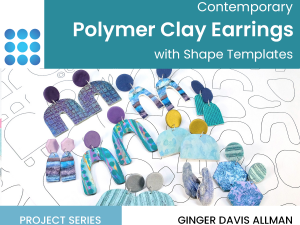 contemporary polymer clay earrings tutorial cover