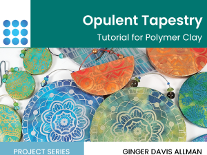 opulent tapestry on polymer clay tutorial cover