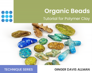 organic beads in polymer clay tutorial cover
